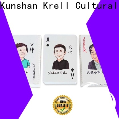 Krell custom playing cards personalized for promotional
