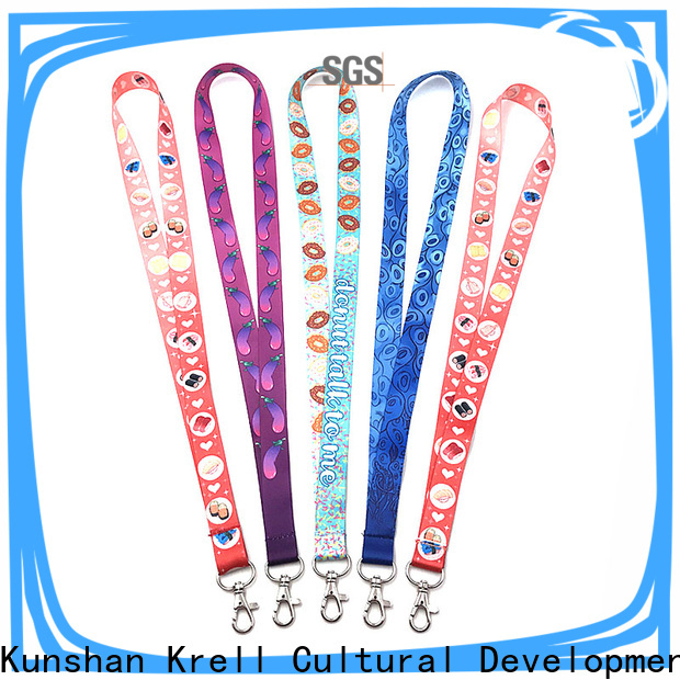 Krell useful personalised lanyards wholesale for commercial