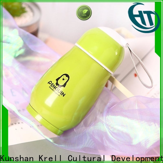 Krell stainless steel personalized water bottles wholesale for sports