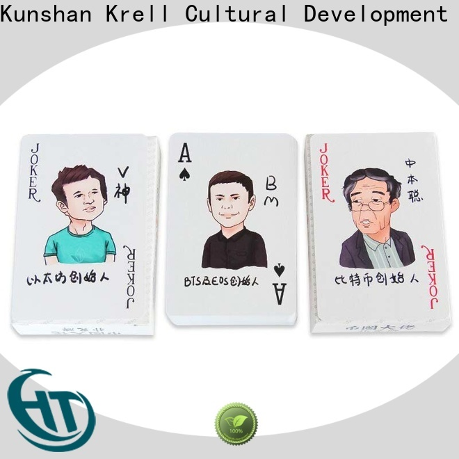 Krell custom playing cards design for business