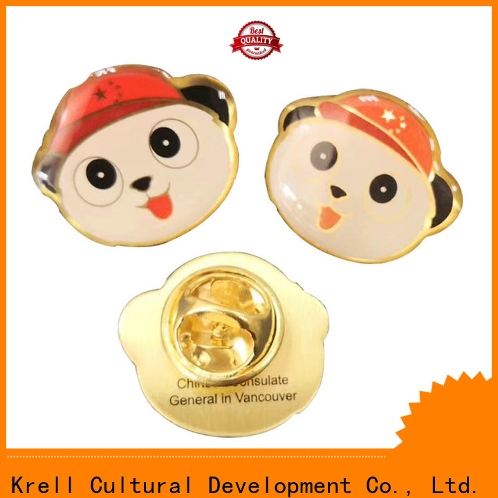 Krell custom pins personalized for souvenir