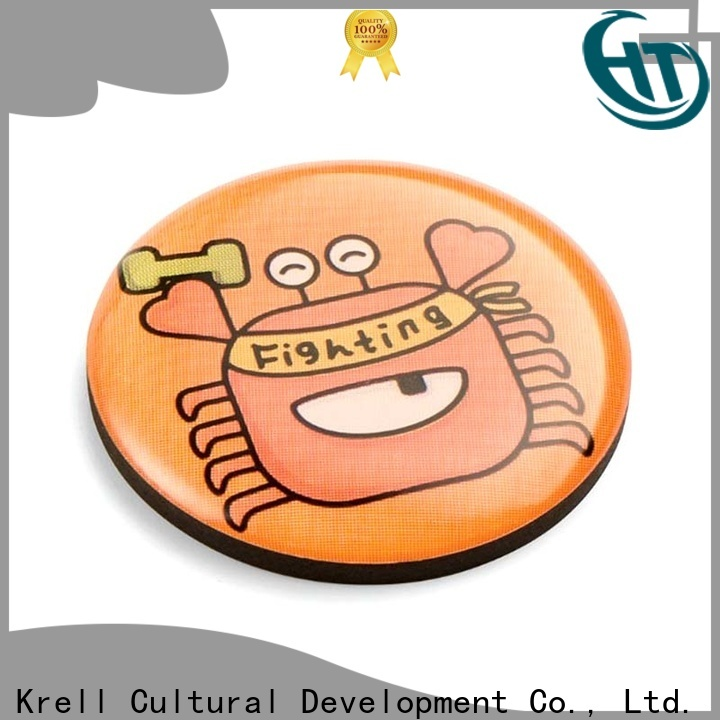 Krell sturdy metal badge personalized for souvenir
