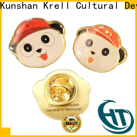 Krell sturdy custom enamel pins wholesale for souvenir