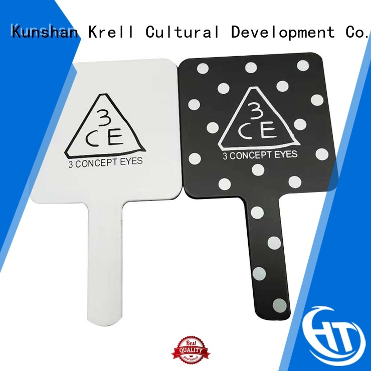 Krell leather keychain personalized for brand promotion