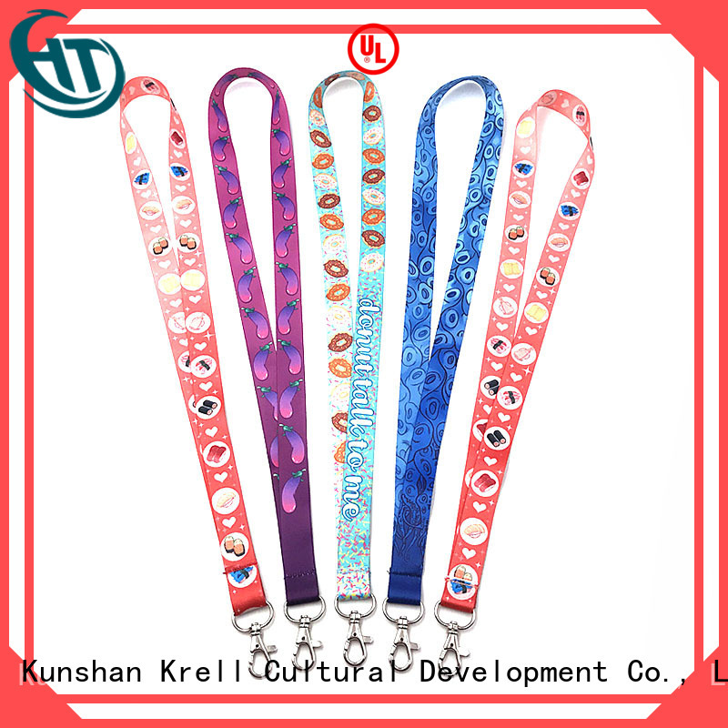 Krell high visibility personalised lanyards wholesale for commercial