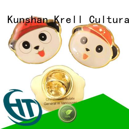 Krell custom badges manufacturer for souvenir