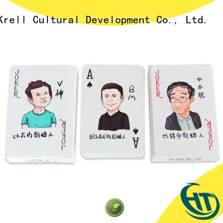 Krell recyclable best playing cards personalized for business