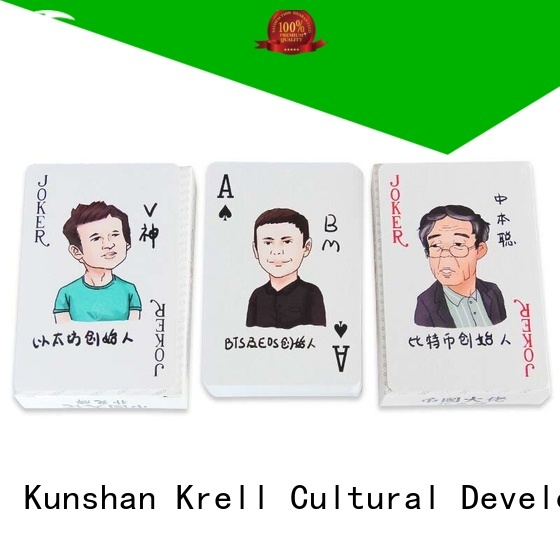 Krell best playing cards personalized for business