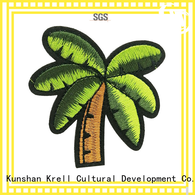 Krell custom embroidered patches personalized for souvenir