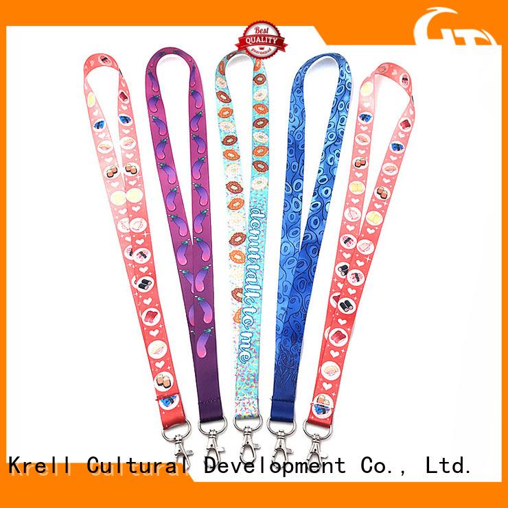 Krell practical custom lanyard wholesale for promotion
