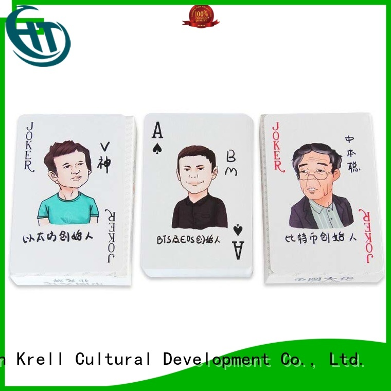 Krell recyclable best playing cards personalized for commercial