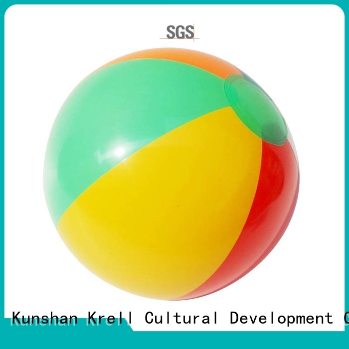 Krell giant beach ball personalized for advertising