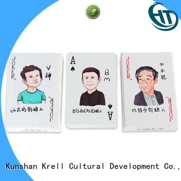 Krell convenient best playing cards personalized for advertising