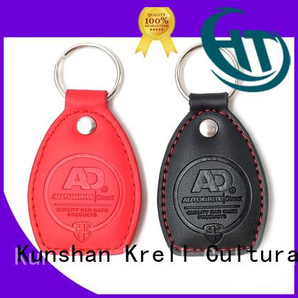 Krell promotional custom keyrings design for souvenirs